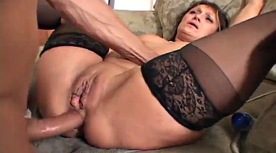 Stocking mature, Mature fuck