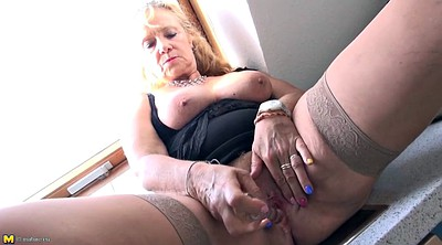 Mother, Mother stocking, Mother in, Mature stocking