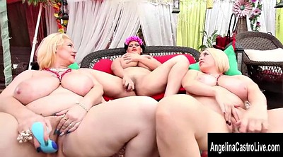 Angelina castro, Friend, Triple, Bbw lesbian, Angelina