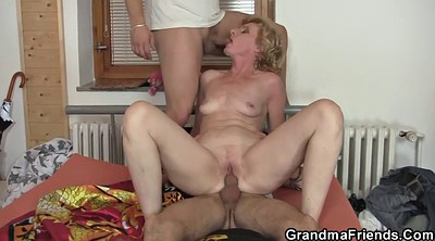 Old lady, Wife share, Old threesome, Delivery, Young wife, Wife sharing