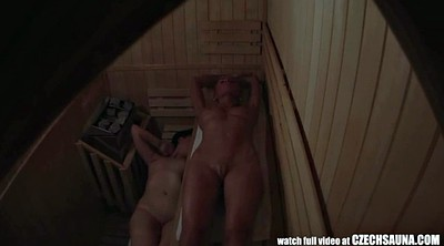 Sauna, Spying, Czech amateur