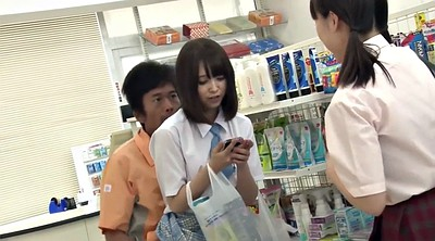 Japanese schoolgirl, Schoolgirls, Japanese guy, Store, Lucky, Japanese schoolgirls