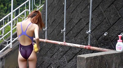 Swimsuit, Shower girl, Japanese girl, Competitions