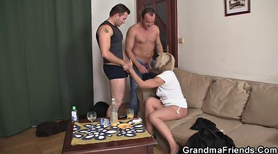Grandma, Wife threesome, Hot wife, Granny threesome, Old young threesome, Old grandma