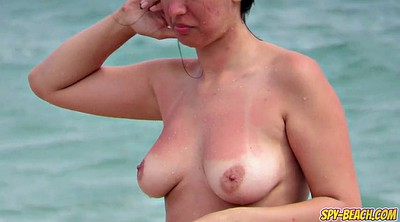 Beach, Voyeur, Topless, Real amateur