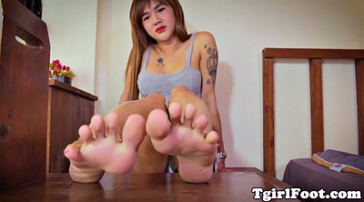 Asian tranny, Toes, Shemale feet