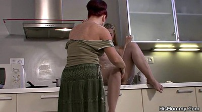 Lesbian moms, Old and young, Kitchen mom, Mom kitchen, Milf kitchen, Young and old lesbian