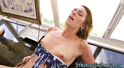 Stepmom facial, Hot stepmom