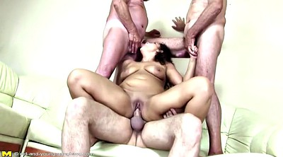 Pee, Mature group, Granny group, Milf and young