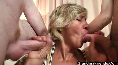 Swallow, Mature swallow, Old threesome, Old dick
