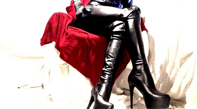 Leather boots, Pvc, Leather boot, Thigh boots, Thigh, Leather bdsm