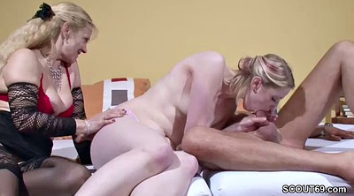 Swallow, German mom, Fuck mom, Young couple, Mom teaching