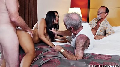 Pickup, Farting, Young and old, Foursome, Nikki, Young old