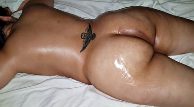 Rubbing, Massage black, Massage big ass, Savage, Butt massage, Black oil