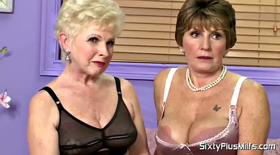 Interview, Short hair, Mature casting, Lesbian granny