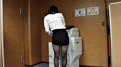 Girl, Pantyhose, Office pantyhose, Pantyhose upskirt, Ripped, Foot tease