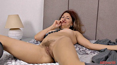 Horny mature, Hairy solo