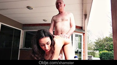 Step sister, Teen old, Teen cum, Old grandpa
