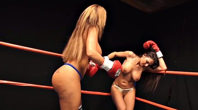 Cat fight, Box, Boxing, Topless