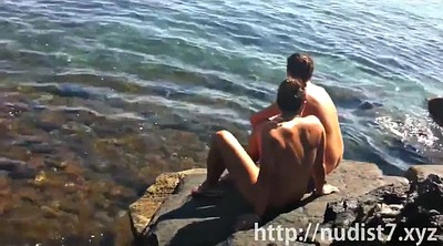 Beach, Nude, Nudist, Voyeur beach, Big clit