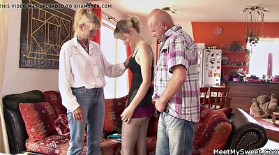 Family, Old mom, Mom teach teen, Mom teach, Family threesome