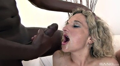 Mature creampie, Interracial mature