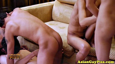 Gay group, Asian pissing, Asian orgy, Anal orgy