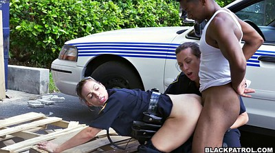 Two black, Ebony threesome, Office black, Female police