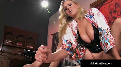 Julia ann, Abused, Teasing handjob, Abuse, Milf slave