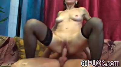 Mature stockings, Granny blowjobs