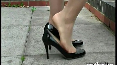 High, Foot nylon, High-heeled