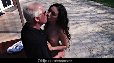 Grandpa, Sisters, Old pussy, Old grandpa, Teen doggy