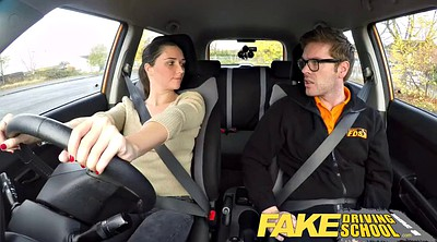 Fake, English, Fake driving school, Driving school, School teen, School fuck