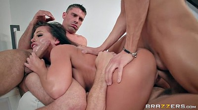 Adriana chechik, Adriana, Triple, Triple penetration, Double blowjob