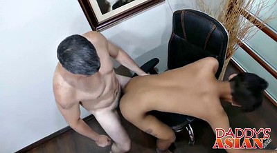 Twink, Asian interracial, Old dad, Asian old, Dads, Dad fuck