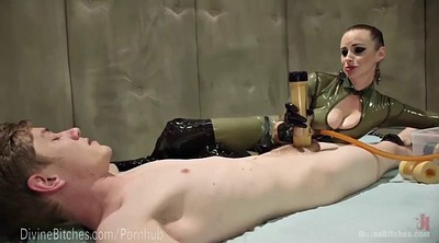 Mistress handjob, Milk