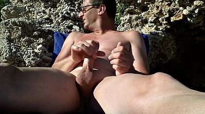 Naked, Beach, Public couple