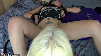 Rubber, Mature blonde, Granny pussy