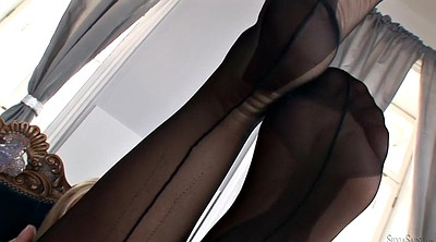 Stockings solo, Stock, Silvia saint, Solo stockings, Black stockings, Solo ebony