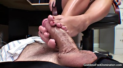 Footjob, Under, Foot goddess, Under table, Brianna, Under the table