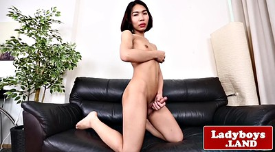 Asian solo, Masturbate, Asian ladyboy, Asian striptease