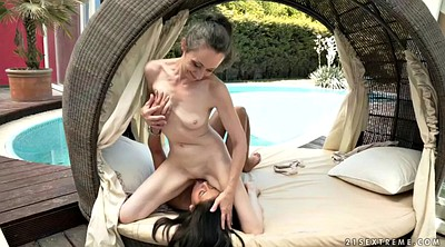 Young and old, Orgasms, Lesbian granny, Lick mature