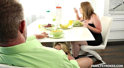 Cuckold, Pov mom, Mom pov, Blond, Zoey, Under the table