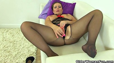 Mature pantyhose, British milf
