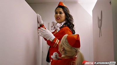 Toilet, Clothed, Toilets, Gloves, Stewardess, Glove