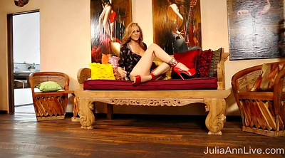 Julia ann, Red lingerie, Anne