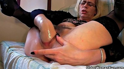 Short hair, Fist, Pussy fisted, Granny solo, Short hair mature, Power