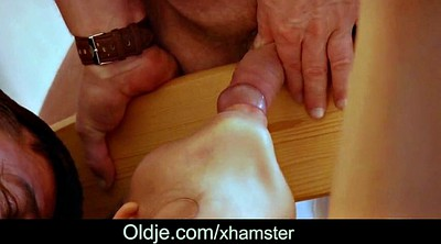 Anal granny, Young men, Penetration