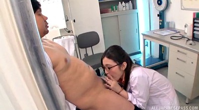 Glasses, Asian nurse, Asian huge