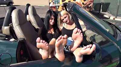 In car, Mature foot, Mature car, Feet sole, Car mature